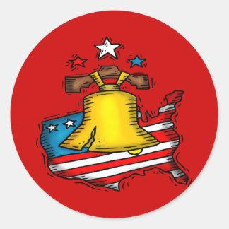 愛国心が強い自由の鐘 ラウンドシール