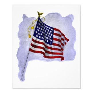 愛国心が強い色のヴィンテージ米国の旗 チラシ