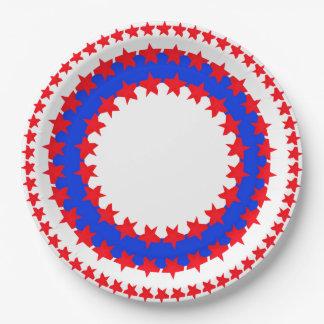 愛国心が強い色の紙皿 ペーパープレート