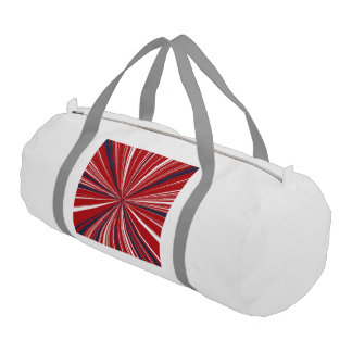 愛国心が強い色の3D爆発 ジムバッグ