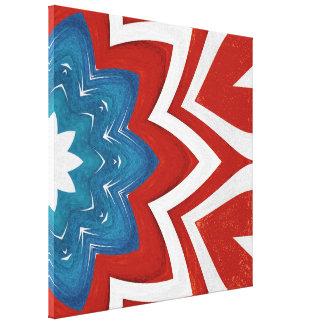愛国心が強い花の万華鏡のように千変万化するパターンのデザイン キャンバスプリント