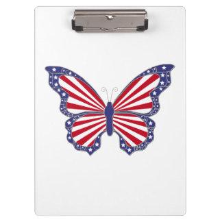 愛国心が強い蝶クリップボード クリップボード