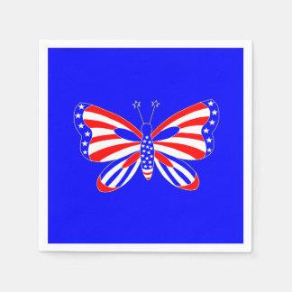 愛国心が強い蝶 スタンダードカクテルナプキン