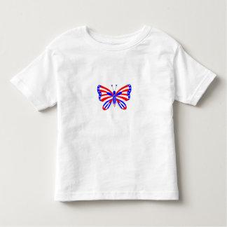 愛国心が強い蝶 トドラーTシャツ