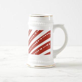 愛国心が強い赤と白の星条旗の自由 ビールジョッキ
