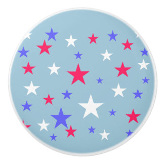 愛国心が強い赤白青の星 セラミックノブ