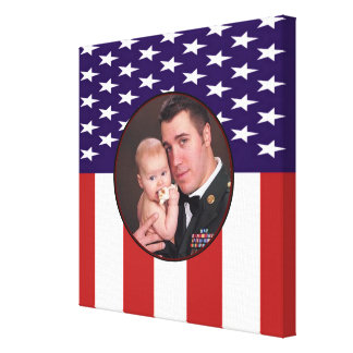愛国心が強い軍の米国旗のカスタムの写真 キャンバスプリント