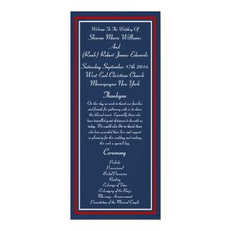 愛国心が強い軍の結婚式プログラム カード