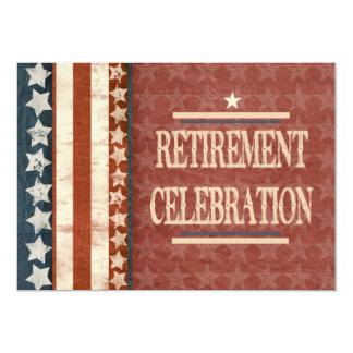 愛国心が強い軍の退役軍人の退職のお祝い 12.7 X 17.8 インビテーションカード