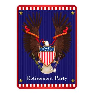 愛国心が強い軍の退職パーティ 11.4 X 15.9 インビテーションカード