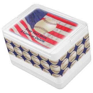 愛国心が強い野球のイグルーのクーラー、米国旗 クールボックス