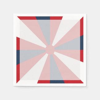 愛国心が強い風車 スタンダードカクテルナプキン