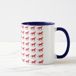 愛国心が強い馬の米国旗 マグカップ