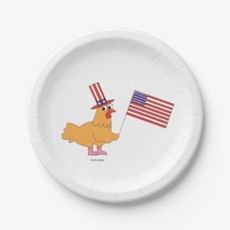 愛国心が強い鶏の紙皿 ペーパープレート