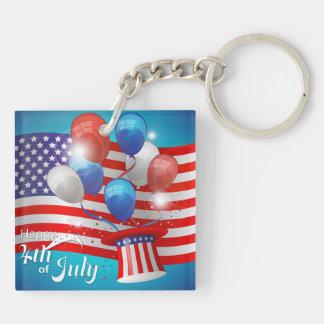 愛国心が強い7月第4幸せ キーホルダー
