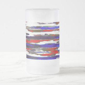 愛国心が強い~の曇らされたガラスのマグ16oz フロストグラスビールジョッキ
