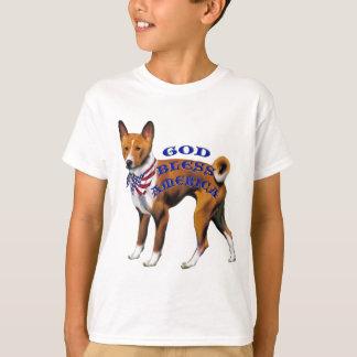 愛国心が強いBasenji Tシャツ