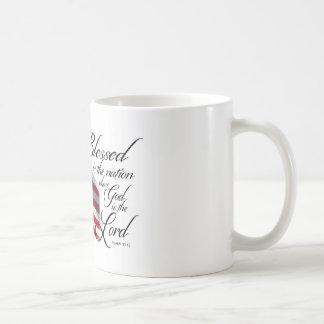 愛国心が強いBlessed国家です コーヒーマグカップ