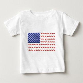 愛国心が強いCat/USA ベビーTシャツ
