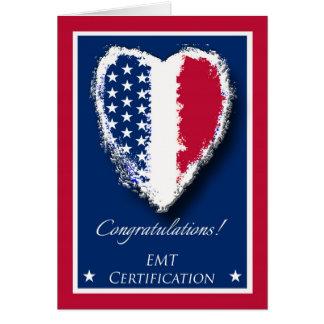 愛国心が強いEMTの証明のお祝い カード