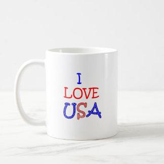 愛国心が強いI愛米国 コーヒーマグカップ