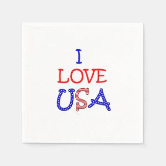 愛国心が強いI愛米国 スタンダードカクテルナプキン