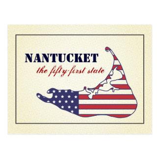 愛国心が強いNantucket、アメリカの第51州 ポストカード
