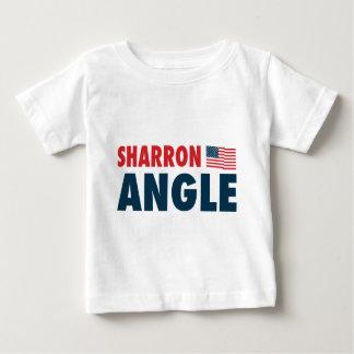 愛国心が強いSharronの角度 ベビーTシャツ