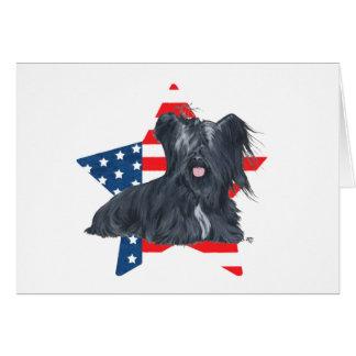 愛国心が強いSkyeテリア-米国旗の星 カード