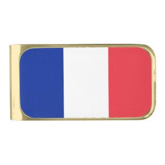 愛国心が強くフランスのな旗 ゴールド マネークリップ