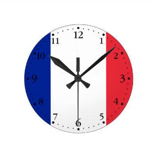 愛国心が強くフランスのな旗 ラウンド壁時計