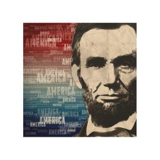 愛国者エイブラハム・リンカーン ウッドウォールアート