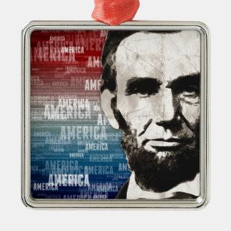 愛国者エイブラハム・リンカーン メタルオーナメント