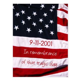 愛国者日の旗9-11 ポストカード