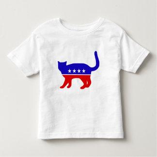 愛国者猫の幼児のワイシャツ トドラーTシャツ