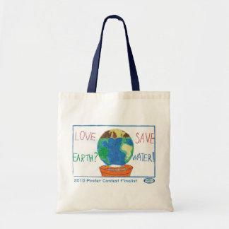 愛地球か。  水を救って下さい! トートバッグ
