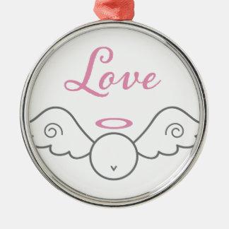 愛天使の円形のオーナメント メタルオーナメント