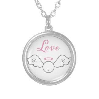 愛天使の純銀製のネックレス シルバープレートネックレス