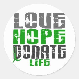愛希望は生命Tシャツ、ギフト、及び服装を寄付します ラウンドシール