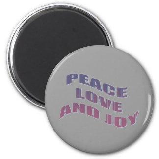 愛平和および喜び マグネット