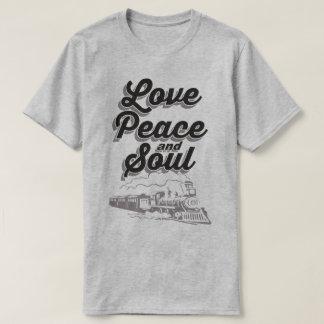 愛平和および精神音楽ディスコの破裂音のスローガンのTシャツ Tシャツ