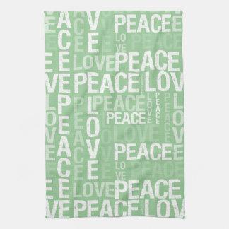 愛平和タイポグラフィ キッチンタオル