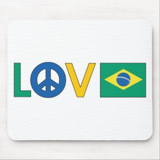 愛平和ブラジル マウスパッド