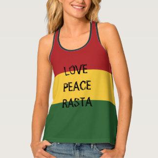 愛平和ラスタはヒッピーの上を着色します タンクトップ