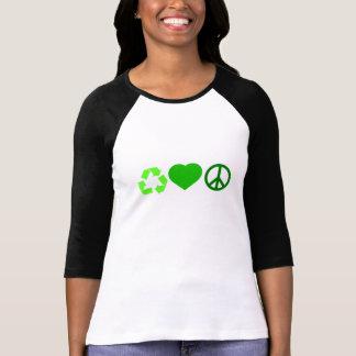 愛平和リサイクル Tシャツ