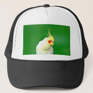 愛平和喜びのcockatielの鳥のオウムを待って下さい キャップ