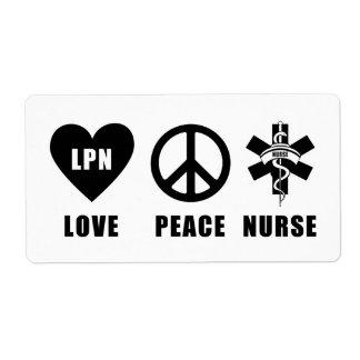 愛平和LPNナース ラベル