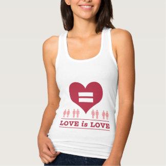 愛平等のハート愛は愛です タンクトップ