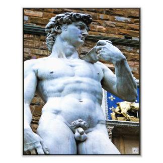 愛引用文のデイヴィッドのフィレンツェの彫像 フォトプリント