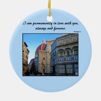 愛引用文のフィレンツェの大教会堂のカテドラル セラミックオーナメント